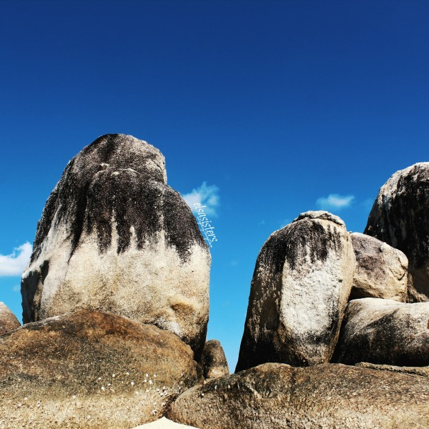 Gigantic Granite Rock at Batu Belayar Island