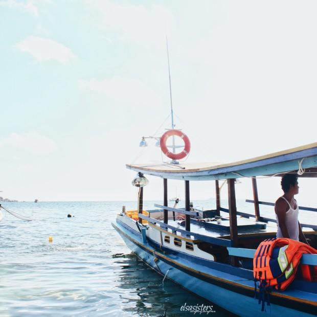 Mr Rusdi inside the boat :)