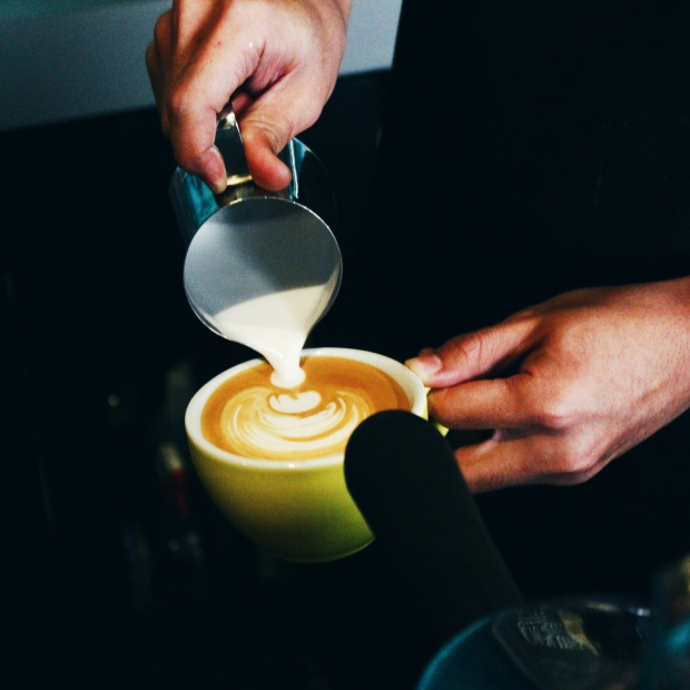 The making of latte art!